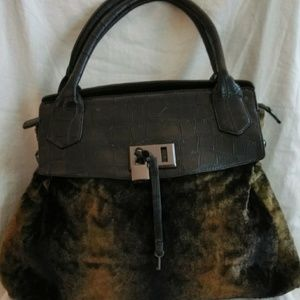 New Faux Fur Handbag